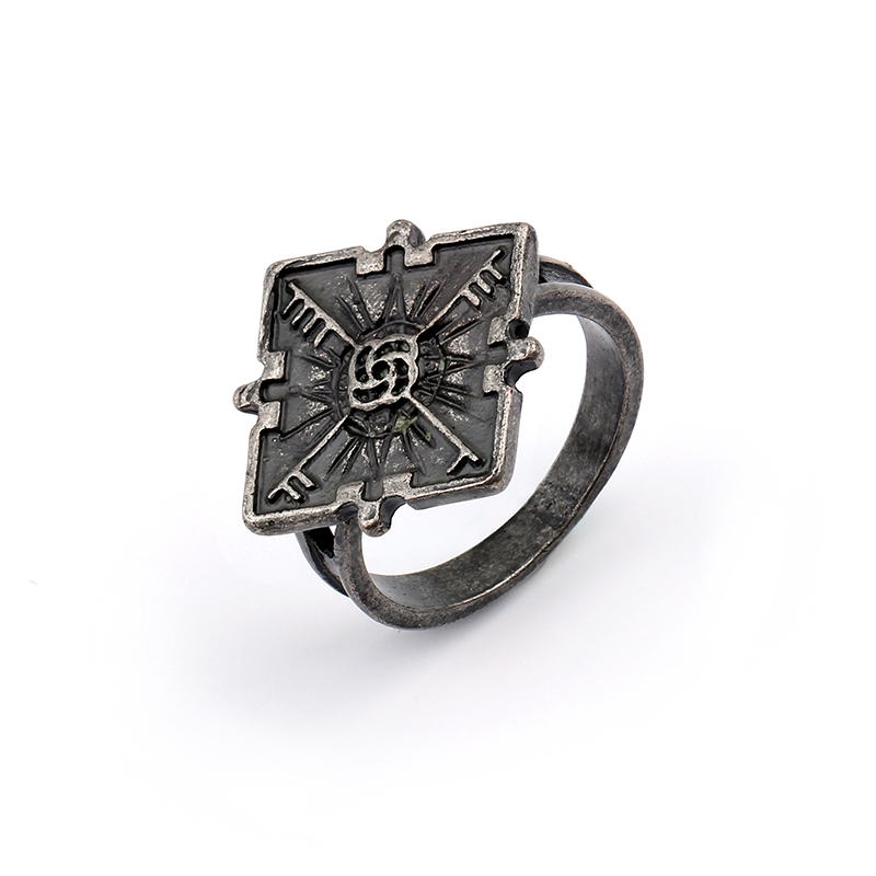 Vintage Rings Dishonored 2 Emily Cosplay Ring For Man Woman bijoux Hip Hop Ring Anillos para hombre Geometric Ring Bague
