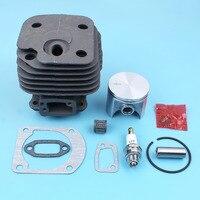50mm Cylinder Piston Kit For Husqvarna 268 268K 268XP Chainsaw W/ Gaskets Spark Plug Needle Bearing Nikasil Plated Parts