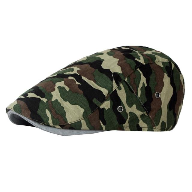 b649321b4e652 Cotton Gatsby Cap Mens Ivy Hat Golf Driving Summer Sun Flat Cabbie Newsboy  beret caps Camouflage hats for men