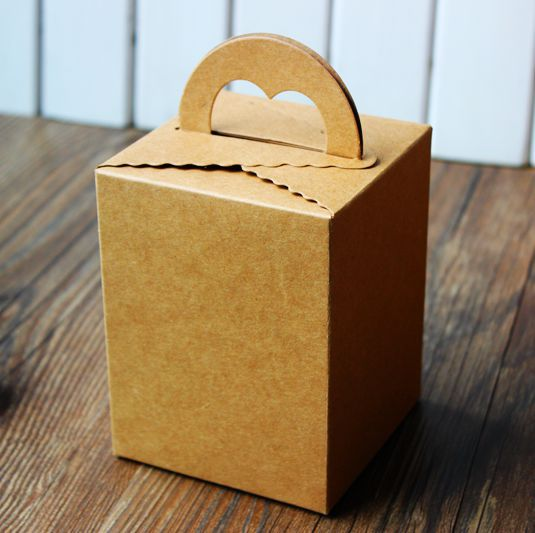 Heart Kraft Hand Cake Box,DIY Gift Box,Cookie Boxes ...