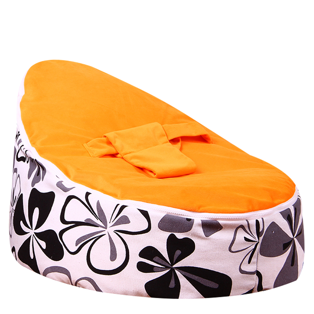 Levmoon Medium Ewha Print Bean Bag Chair Kids Bed For Sleeping Portable Folding Child Seat Sofa Zac Without The Filler
