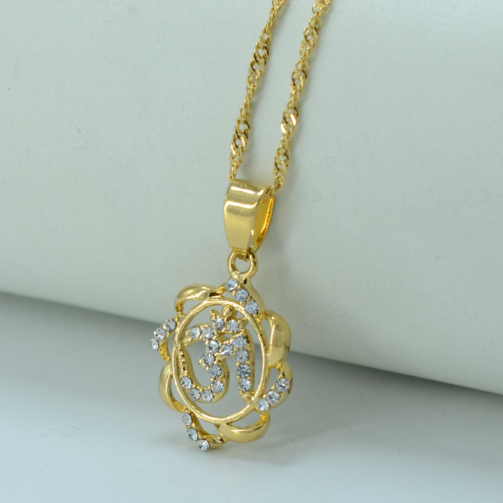 Anniyo Small India Yoga Necklace Pendant Women Girl OHM Hindu