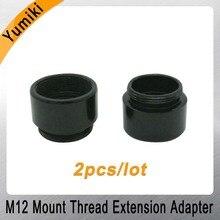 Yumiki 2 יח\חבילה הר חוט הארכת מתאם אבץ סגסוגת Extender M12 עדשה הארכת טבעת עבור MTV ממשק טלוויזיה במעגל סגור עדשה