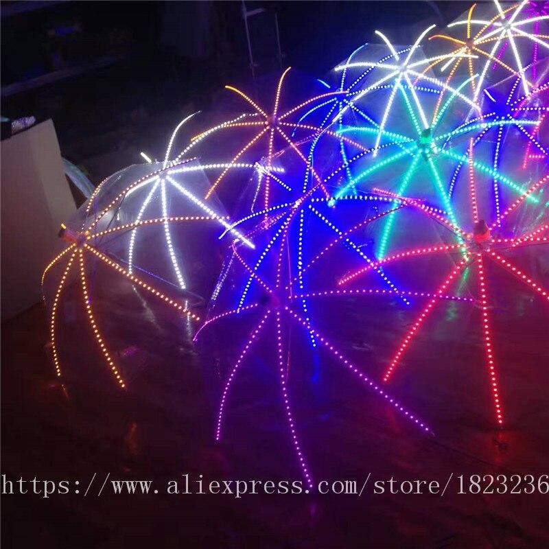2019 Новый высокое качество Цвет лазерные перчатки Хэллоуин бар, ночной клуб Stage Show светящиеся очки перчатки реквизит вечерние Одежда для тан... - 6