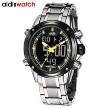 addies watches men digital sprt alloy case 30meter waterproof wristwach luxury brand mens top watch