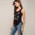 2016 Nova Moda Tops Mulheres Verão Vestido da Cópia Do Gato Sem Mangas T camisa Casual Roupas Femininas