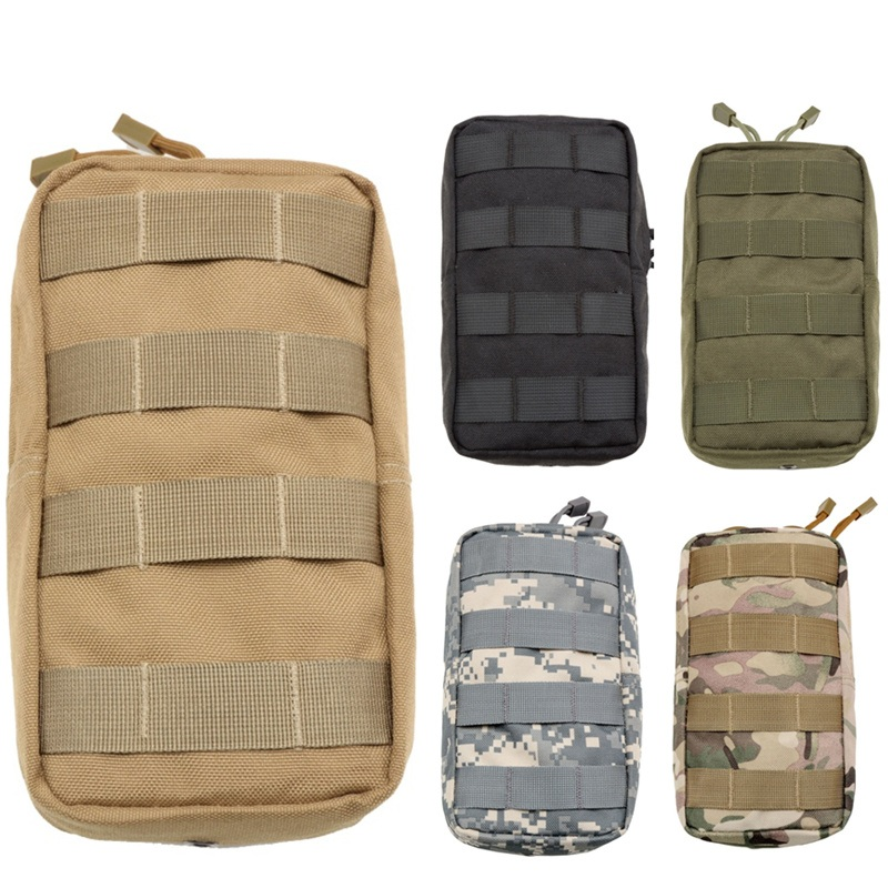 CQC Outdoor Military Airsoft 1000D Utility Molle Tactical Waist Bag Medical First Aid Pouch Phone Case EDC Gadget Hunting Pack tactical molle pouch cell phone case belt clip holster edc utility gadget 1000d nylon men waist bag outdoor gear black