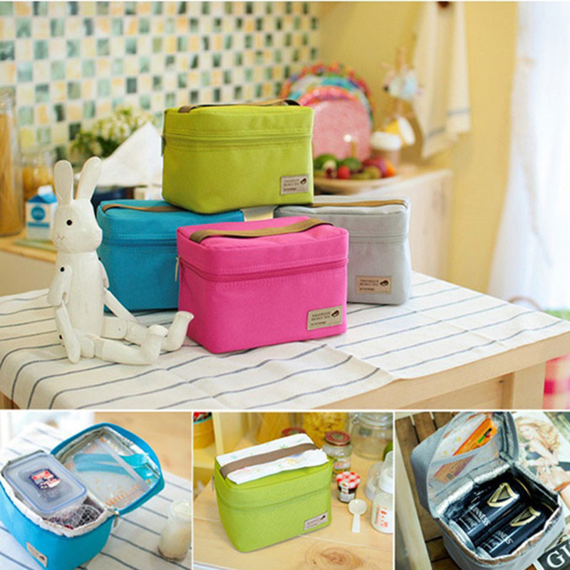 Ice-Bags Packet Bento-Box Nylon Picnic Small Waterproof Portable Practical Food 4-Color