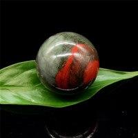 40mm Bolas de Massagem Massagem Mão Bola Esfera Natural Bloodstone Cristal Home Decor Pedras Naturais e Minerais Massagem Brinquedos Divertidos