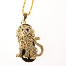 Mini Lion USB Flash Drive 64gb Usb 2.0 Pen Drive Flash Memory Stick U Disk Pen Drive 32gb Pendriver Animal Necklace Gift Gadget
