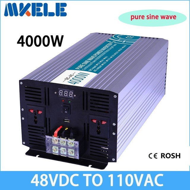 MKP4000 481 48vdc to 110v 4000w pure sine wave Power inverter solar ...
