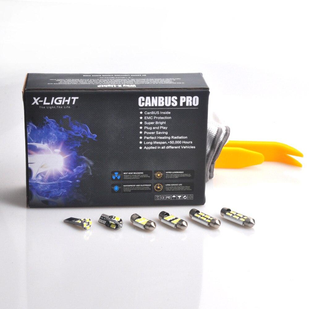21 PC xénon blanc Premium LED Kit de lumière intérieure pour BMW série 5-E39 525i 528i 530i 540i M5 1996-2003 avec outil d'installation