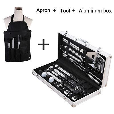 18 Uds de acero inoxidable BBQ herramientas populares accesorios Grill Brush agarre duradero - 2