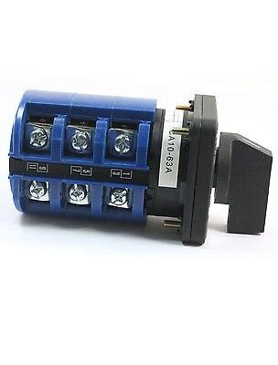 CA10-63 660 V 63A 12 bornier à vis 3 phases commutateur rotatif à came 2 pièces - 2