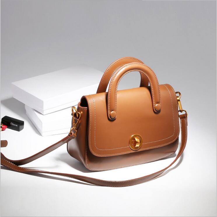 ФОТО 2017 Designer Women Genuine Leather Handbags Bucket Shoulder Bags Ladies Crossbody Bags Small Cow Real Genuine Leather Women Bag