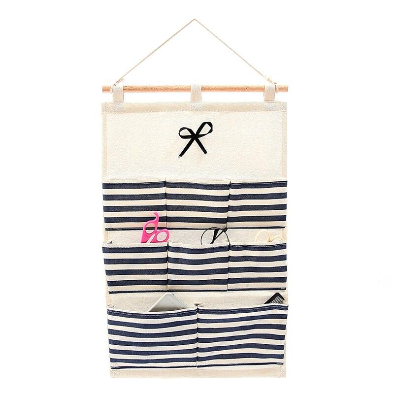 Cotton Fabric Wall Hanging Organizer Socks Underwear Clothing Wardrobe  Storage Closet Sundries Bag Accessories Supplies Stuff