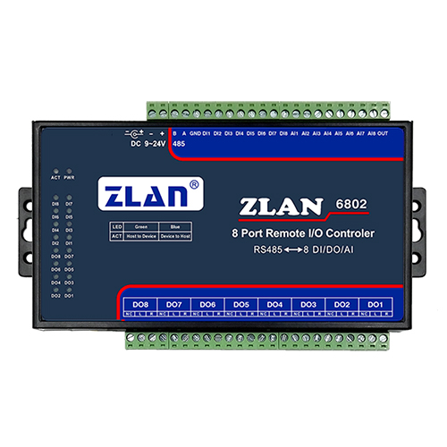 Analog data acquisition module digital acquisition module switch quantity to collect IO controller ZLAN6802