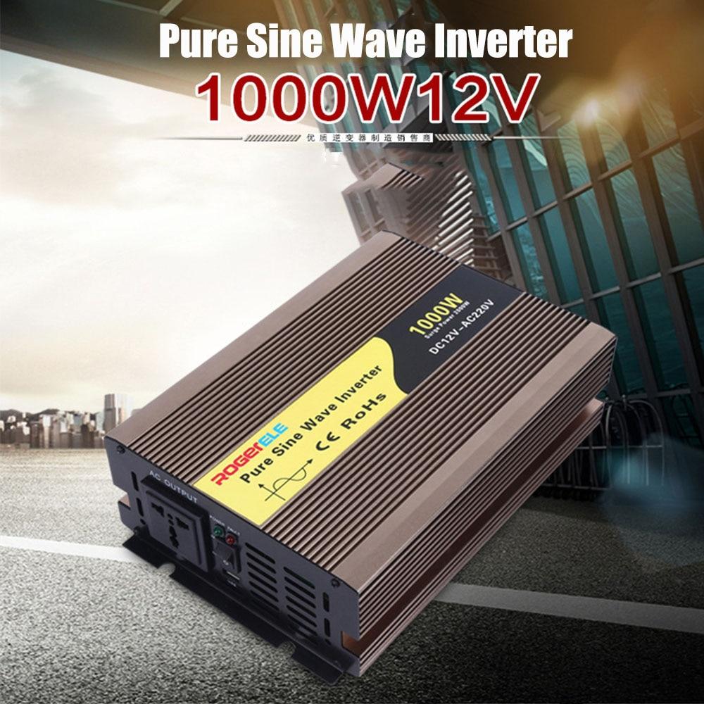 Onduleur solaire à onde sinusoïdale Pure Dc 12 v à Ac 220 v convertisseur de voiture 300 w 600 w 1000 w 1500 w 2000 w 3000 w w