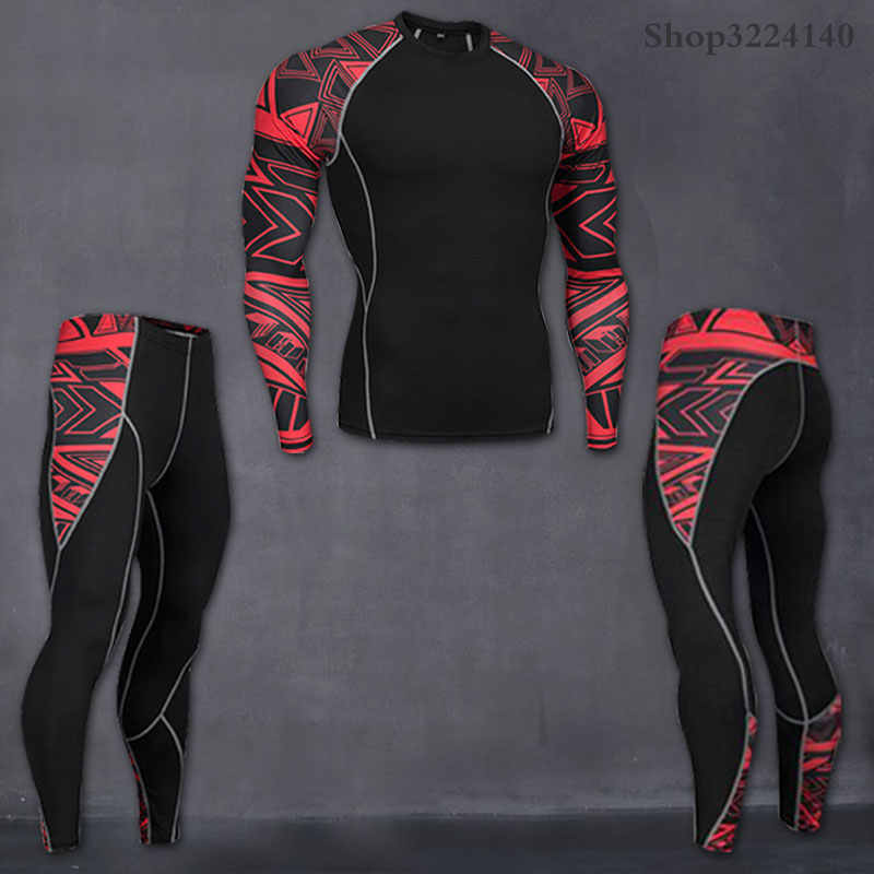 2019 hommes compresser camouflage collants survêtement collants pantalon fitness skinny leggings pantalon sport costume hommes survêtement rashgard kit