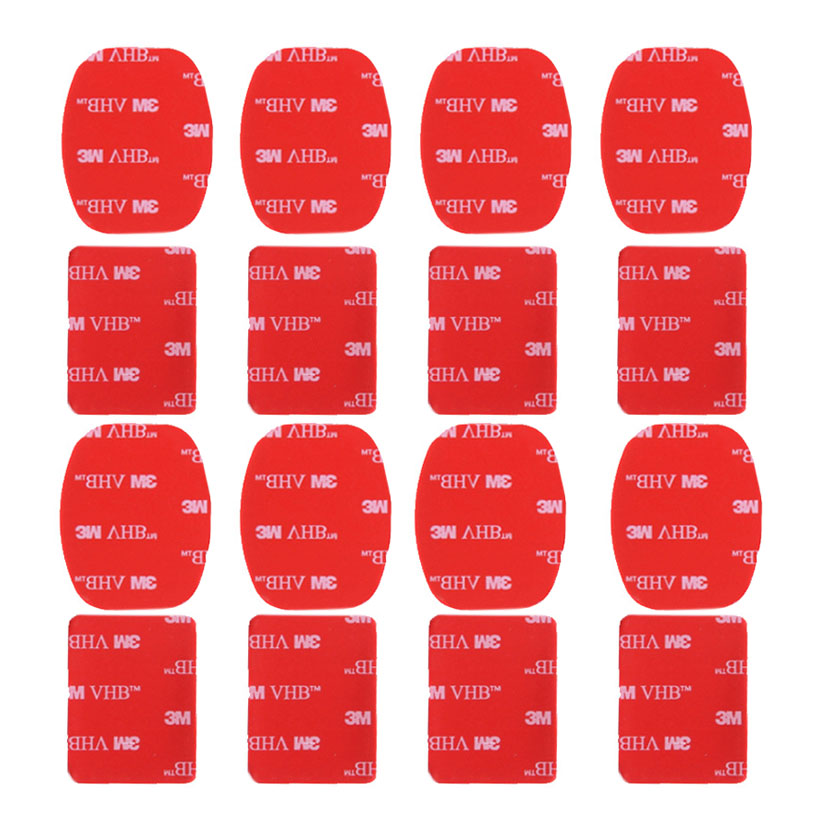 Peeynnt For Gopro Accessories Flat Curved Mount Set Sticker 3M Adhesive For Go Pro Hero 8 7 6 5 4 3+ 2 For Xiaomi Yi 4K EKEN H9