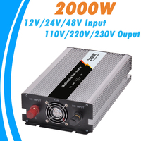 2000W Modified Sine Wave Off Grid Tie Inverter Optional 12V 24V 48V DC Input And 110V