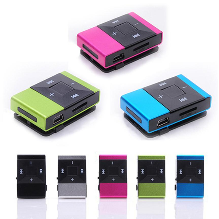 fashion Mini USB Clip Digital Mp3 Music Player Support 8GB SD TF Card Slick stylish design Sport Compact mp3 player Hot sale  ...