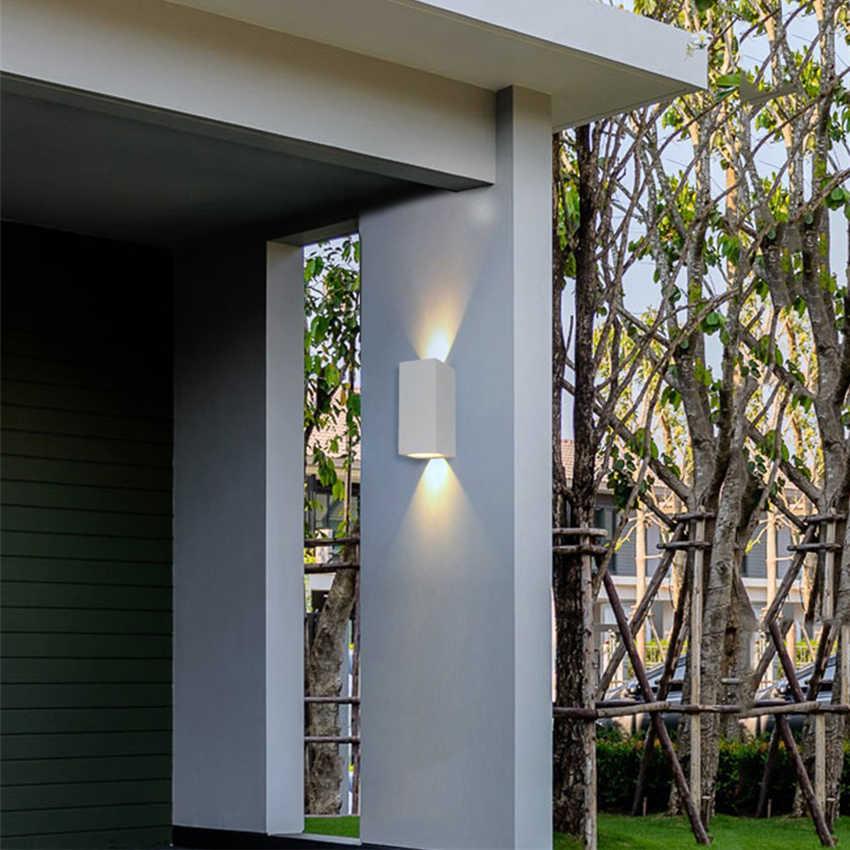 6 Вт светодиодный настенный светильник Крытый уличный водонепроницаемый алюминиевый настенный светильник для спальни прихожей крыльцо сад балкон домашний декор BL02N