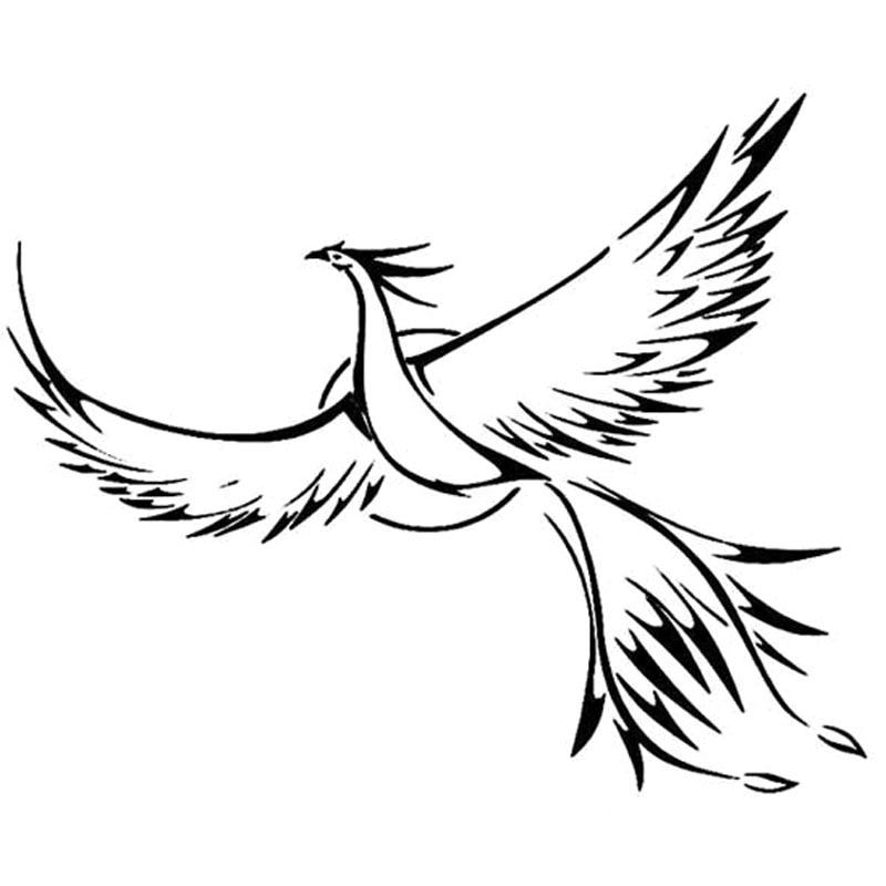 20X16.4CM Loving Memory Of  Phoenix Bird Love Vinyl Decal Car Sticker Accessories S6-2417