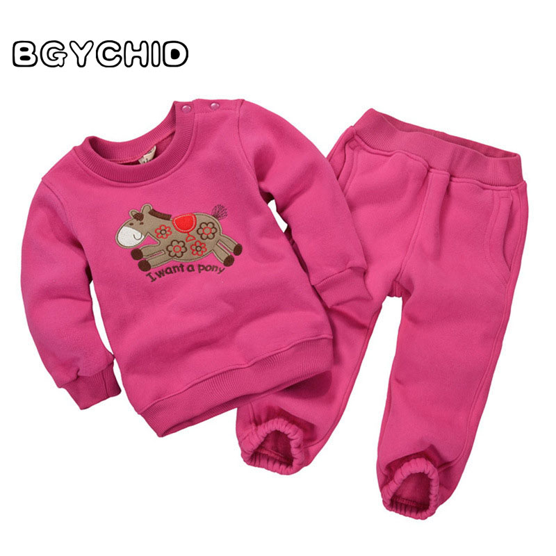 BGYCHID 2pcs Baby Girl Set Cotton Sweater Girls Boys Sets Infant Warm Pullover Pants Suit Newborns Toddler Clothing Sets promotion 6pcs baby bedding set cot crib bedding set baby bed baby cot sets include 4bumpers sheet pillow
