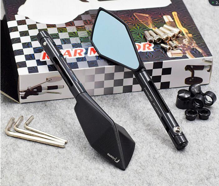 Universal Motorrad spiegel seite Rück Für Suzuki katana Bandit Hayabusa SV650 GSR750 kawasaki z750 KTM Honda BMW Hyosung