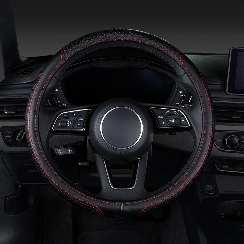 купить Car steering wheel cover,auto accessories for vw volkswagen tiguan 2017 2018 touareg 2004 2011 touran 2004 2005 2007 up по цене 3181.6 рублей