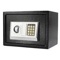 Новое поступление черный сталь Цифровые Электронные кодовый замок дома Сейф для офиса + переопределить ключ