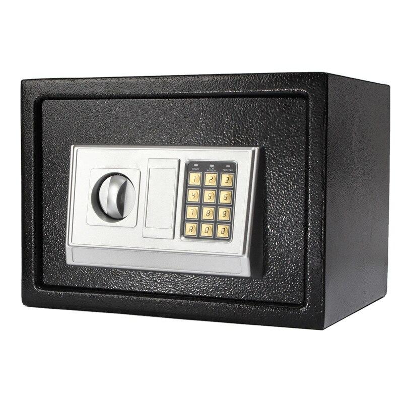 Новое поступление черный стальной цифровой электронный кодовый замок Домашний офис Сейф + ключ