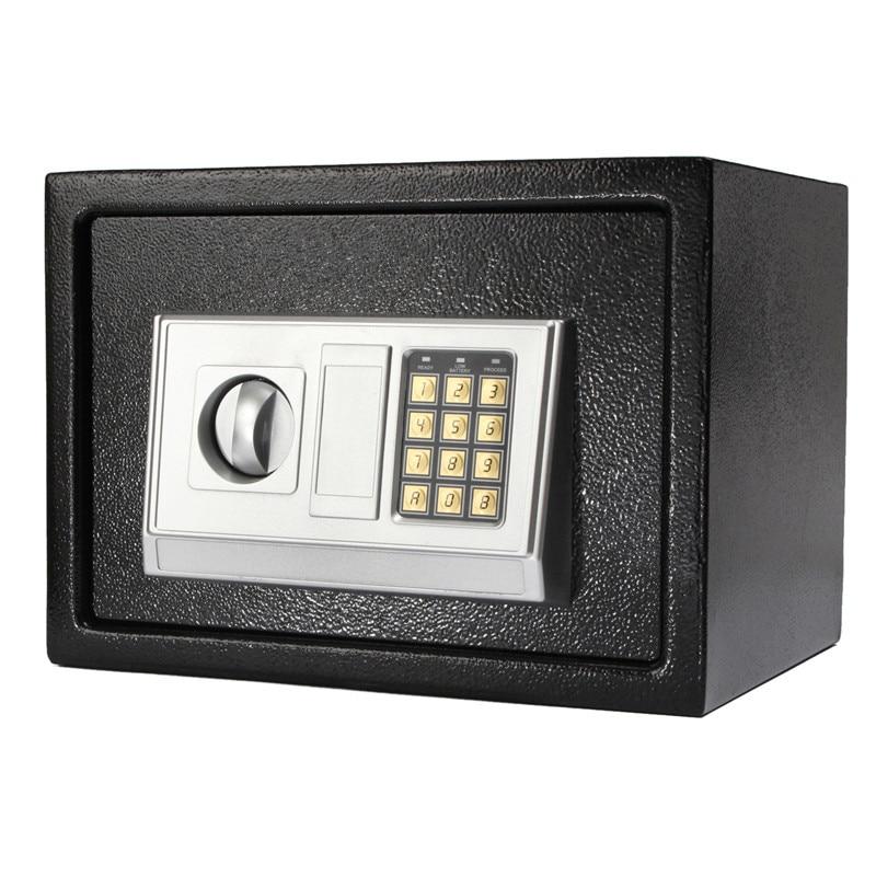 цена на New Arrival Black Steel Digital Electronic Coded Lock Home Office Safe Box + Override Key