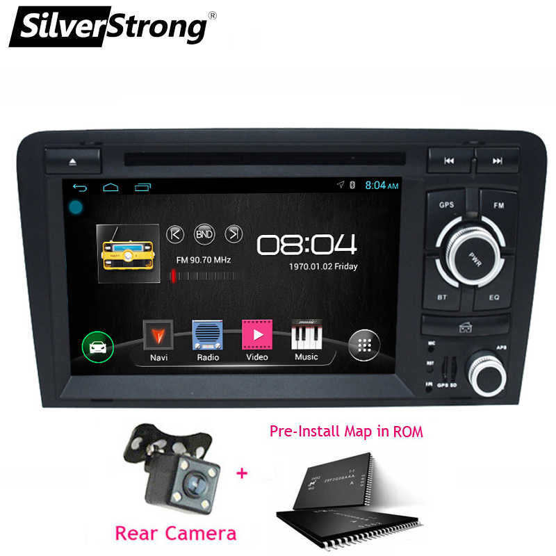 SilverStrong 2Din Android9.0 アウディ A3 S3 2003 2004-2011 2008 A3 Dvd カーラジオの Gps ナビゲーション s3 2 DIN DVD A3