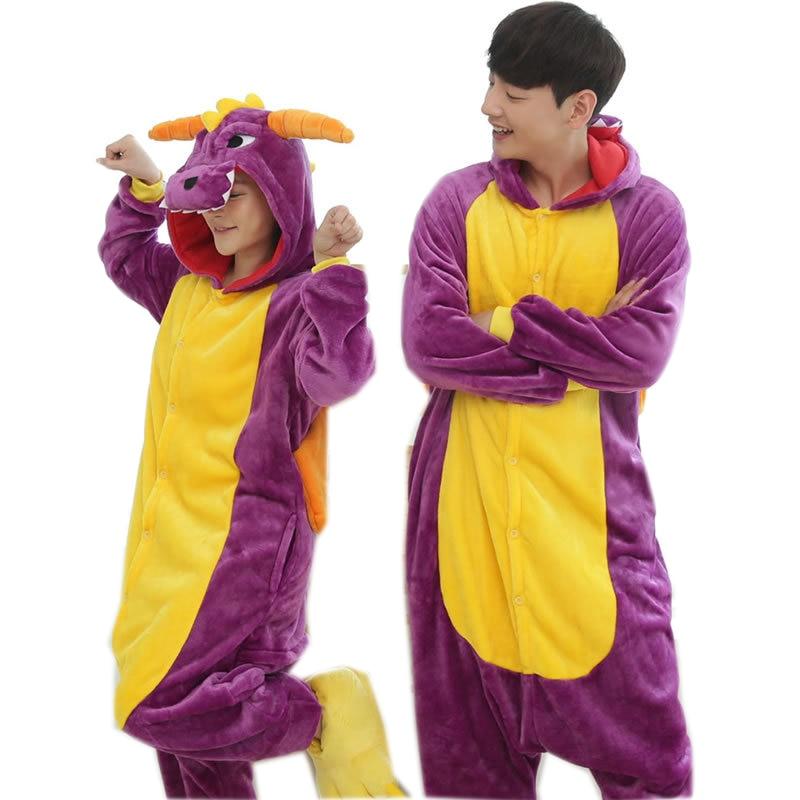 Adults animal onesie Purple Spyro Dragon Pajamas Cosplay 761790270