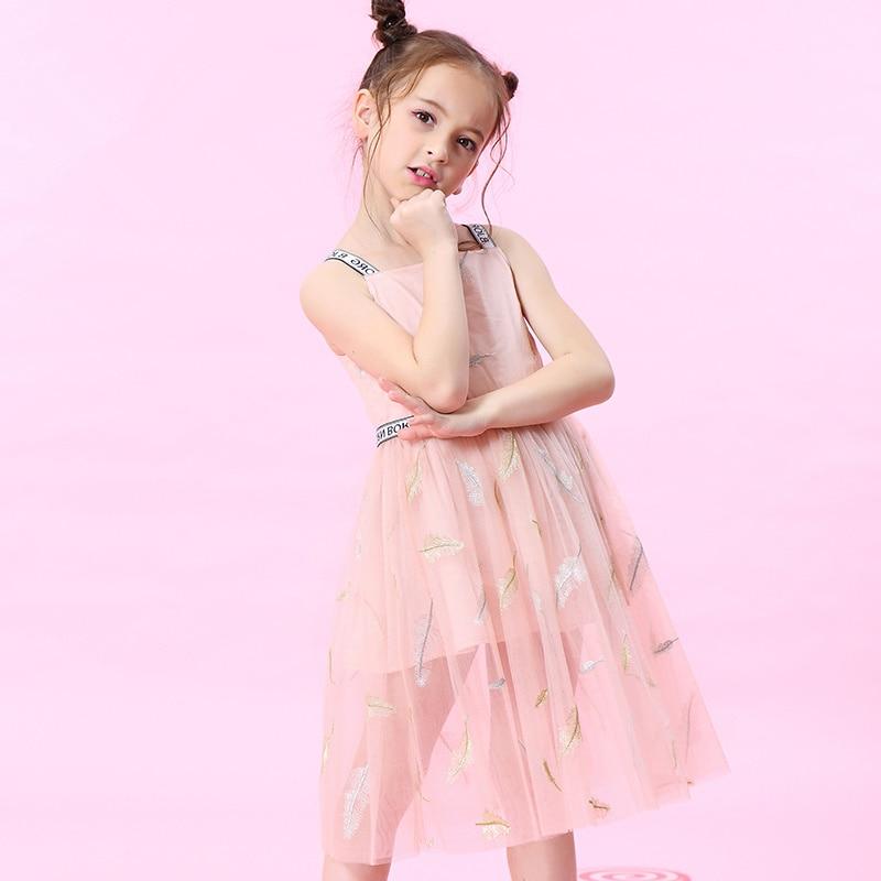 W.L.MONSOON 2018 Summer dress Girls princess dress summer Sling Tutu sleeveless Net dress Children's dress стоимость