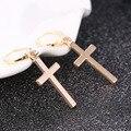 Hot Women Earrings Cross Charm Earring fashion jewelry gold and silver cross hoop earrings