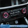 Para MAZDA cx5 CX-5 AXELA adesivo Ar Condicionado Botão do Interruptor de controle central decoração guarnição para cx-5 acessórios