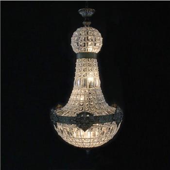 Europe Retro Vintage enchanti Royal Empire Style Big Led Crystal Modern Chandelier Lamp Lustres Lights E14 For Hotel Living Room