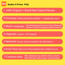Xiaomi Redmi 4 Pro Prime 3GB RAM 32GB ROM Mobile Phone Snapdragon 625 Octa Core CPU 5.0″ FHD 13MP Camera 4100mah MIUI8