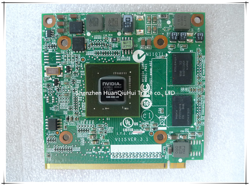 Origina and working perfect NVIDIA GeForce 9300M GS (G98-630-U2) <font><b>DDR2</b></font> 256MB 64Bit MXM II VG.9MG06.001 laptop VGA card for Acer image