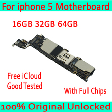 Free iCloud for iphone 5 Motherboard with Full Chips,Original unlocked for iphon