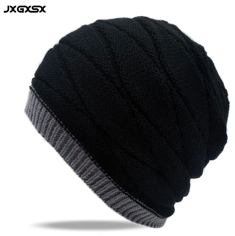 JXGXSX 2017 Winter Ski Cap Knitted Hats Gorros Knit Skullies Snowboard Hats For Men Women Skating Ski Caps Warm Beanies Fur Hat sn su sk snowboard gorros winter ski hats skating caps skullies and beanies for men women hip hop caps knitting bonnet chapeu
