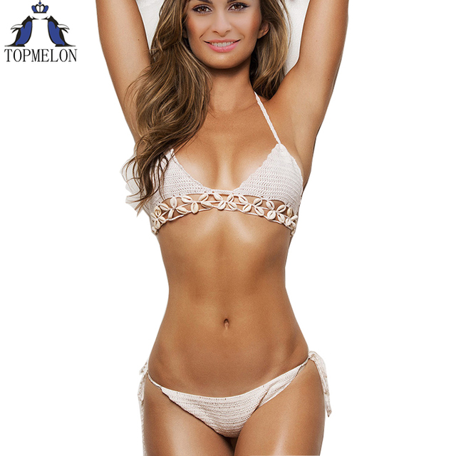 Crochet bikini frauen Badeanzug crochet bademode biquini häkeln weiblichen  bademode body bikini set brasilianischen