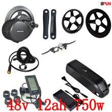 Kit moteur électrique 48 V 750 W BBS02B Bafang mid drive + batterie 48 V 12AH 750 W batterie 48 V 12AH hailong vélo électrique
