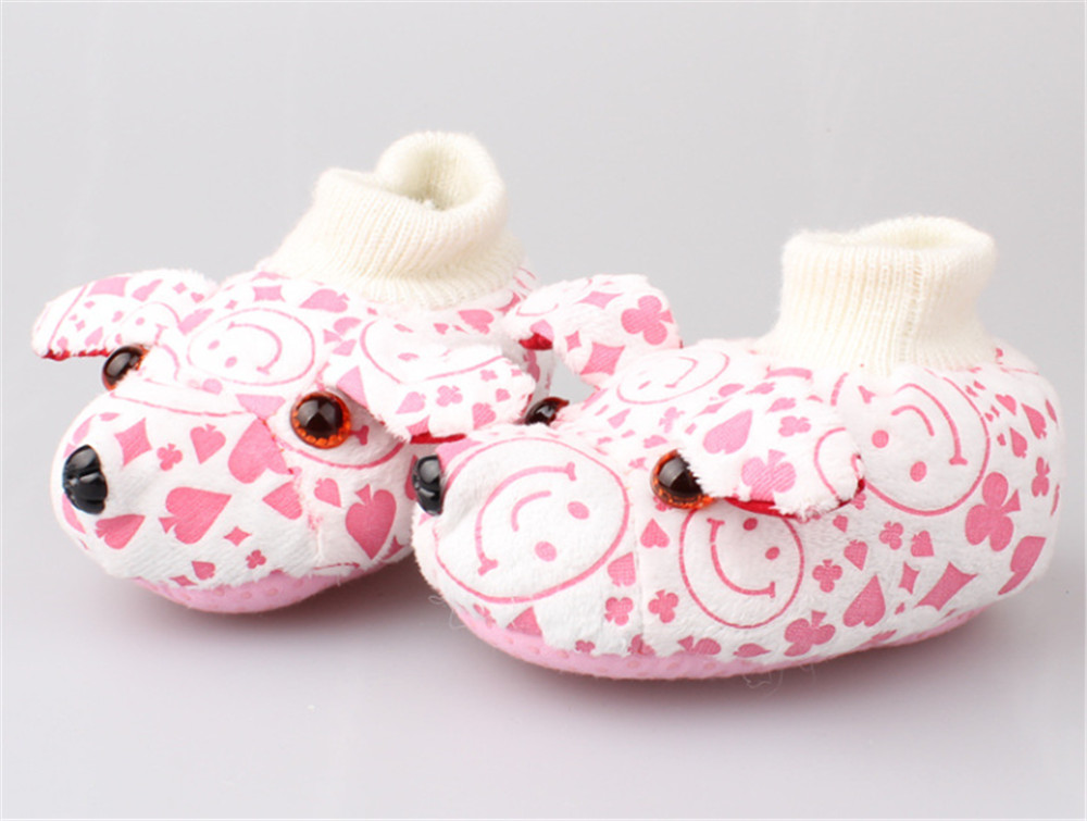 Amazing 0-12 Month Baby Boy Girls Crib Shoes Infant Crib Cotton Fall and Winter Baby Shoes Soft Sole(s6-1) pair of trendy rhinestone oval leaf earrings for women page 5