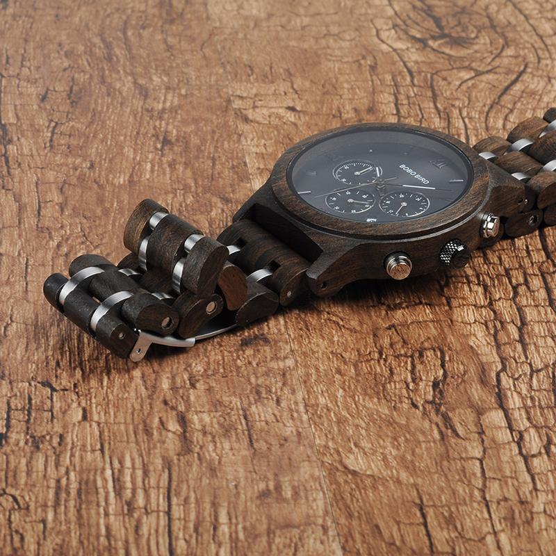 Relojes de Madera con Banda Metálica 9