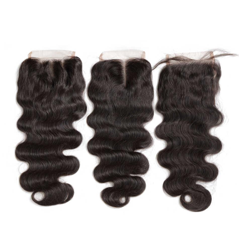 Rosabeauty перуанские человеческие волосы, закрывающие волнистую волну тела, натуральные волосы на шнуровке, средняя/свободная/3 части с отбеленными узлами, Детские волосы