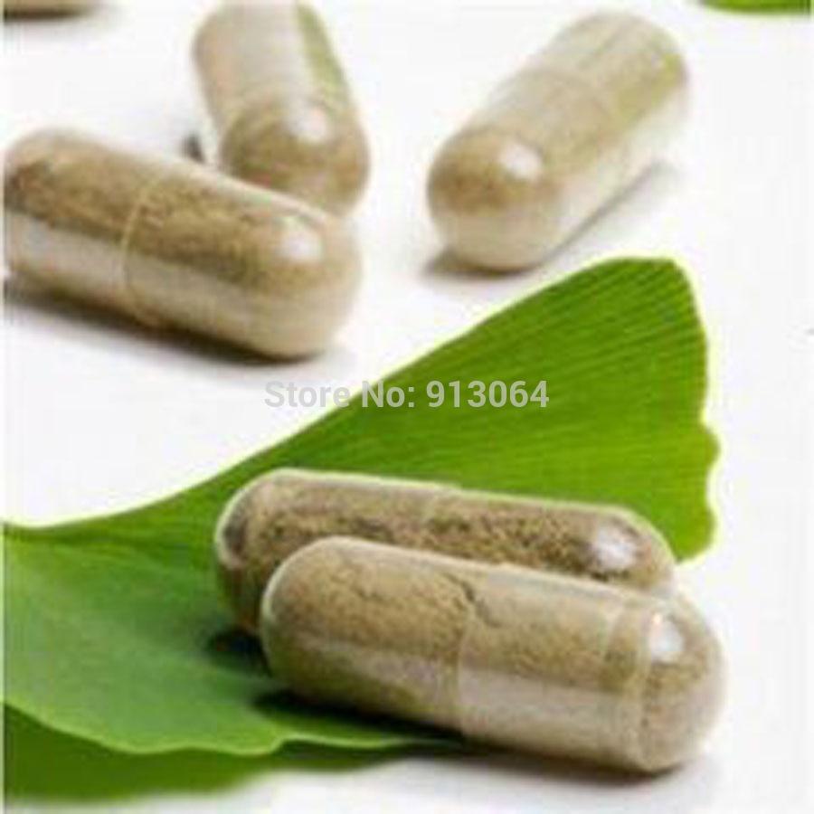 Buy Five Get One Free100 Capsules Organic Ginkgo Biloba Leaves Extract Powder Capsule Natural Yinxing Wild Lower Blood Pressure